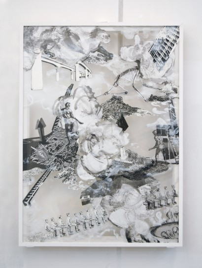 untitled, 2009, 106,5 x 77,4 cm, Mixed media on glass