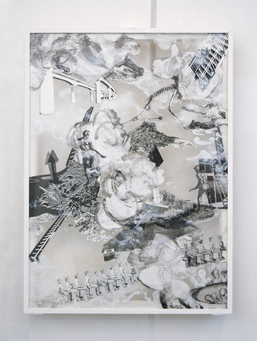 untitled, 2009, 106,5 x 77,4 cm, Mixed Media on Glas